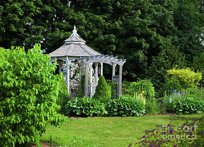 Photograph - Garden Gazebo by Verena Matthew