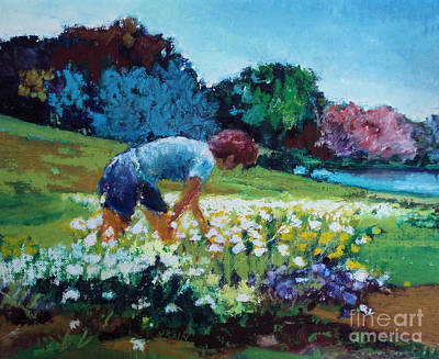Painting - Garden Girl by Diane Ursin