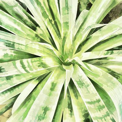 Digital Art - Garden Green by Ann Powell
