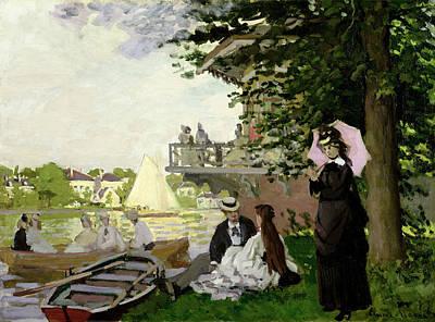 Garden House On The Zaan At Zaandam Print by Claude Monet