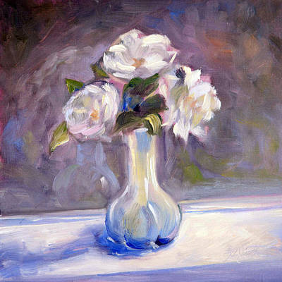 Still Life Painting - Garden Icebergs by Athena Mantle Owen