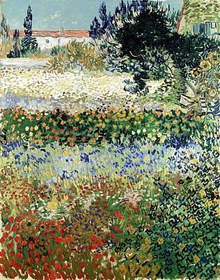 Painting - Garden In Bloom, Arles by Artistic Panda