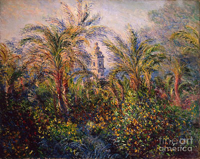 Garden In Bordighera Impression Of Morning Print by Claude Monet