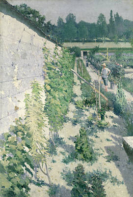 Allotment Painting - Garden In Grez by Karl Fredrick Nordstrom
