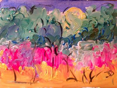 Painting - Garden In My Pocket by Judith Desrosiers