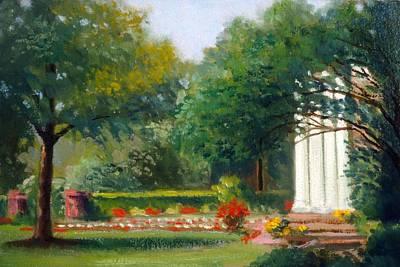 Garden In Nj Impression Art Print by David Olander