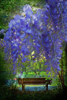 Photograph - Garden In Oil Paints by Debra and Dave Vanderlaan