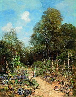 Superstition Mountains Painting - Garden In Plankenberg by Celestial Images