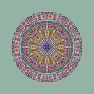 Digital Art - Garden Kaleidoscope by Judi Suni Hall