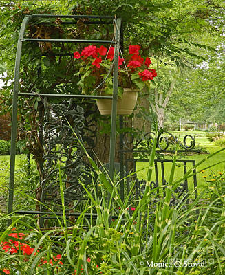 Photograph - Garden Landscape No. B3 by Monica C Stovall