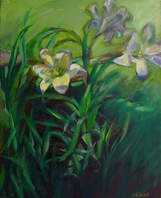 Painting - Garden Lilies by Grace Diehl