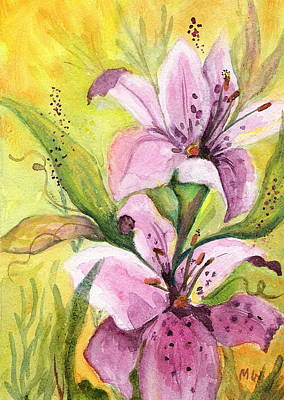 Painting - Garden Lilies by Marsha Woods