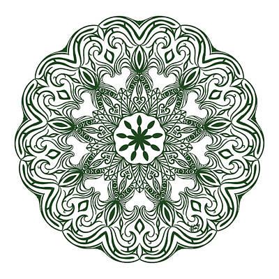 Garden Maze Original by Beltolls Art