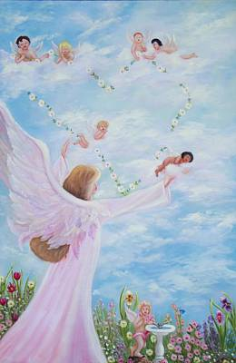 Angel Painting - Garden Of Angels by Joni McPherson