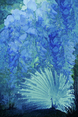 Photograph - Garden Of Blues by Debra and Dave Vanderlaan