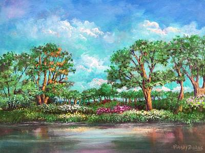 Art Print featuring the painting  Summer In The Garden Of Eden by Randol Burns