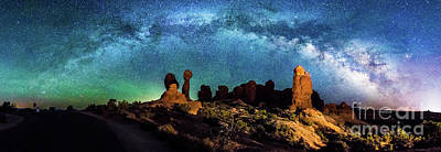 Photograph - Garden Of Eden Milky Way Panorama by Robert Loe