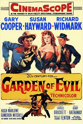 Garden Of Evil 1954 Art Print