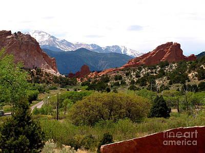 Photograph - Garden Of Gods IIi - A Colorado Landscape by Christine S Zipps
