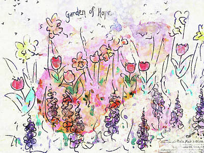 Wall Art - Painting - Garden Of Hope  by Claire Bull