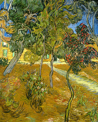 Ground Painting - Garden Of Saint Paul's Hospital by Vincent van Gogh