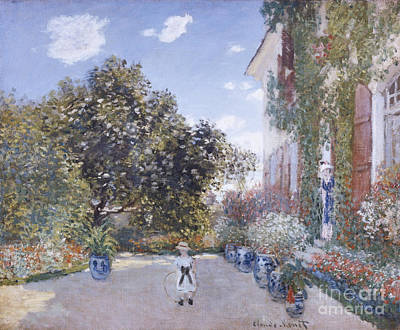 Painting - Garden Of The Artist At Argenteuil by Celestial Images