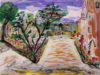 Primitive Drawing - Garden Of The City by Mary Carol Williams