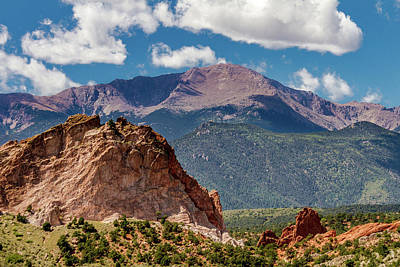 Animal Paintings David Stribbling - Garden Of The Gods and Pikes Peak by Bill Gallagher