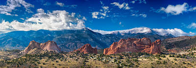 Landscape Photograph - Garden Of The Gods And Pikes Peak by Chad Gilbert