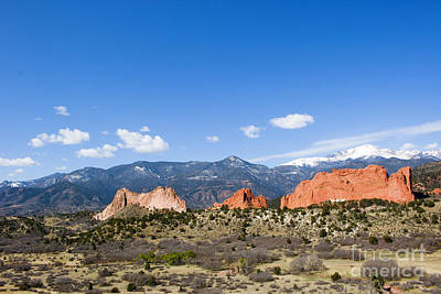 Steven Krull Royalty-Free and Rights-Managed Images - Garden of the Gods and Pikes Peak in Springtime by Steven Krull