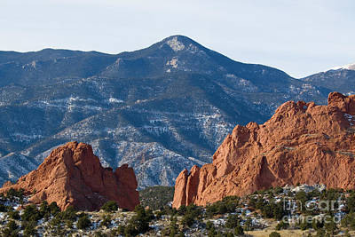 Photograph - Garden Of The Gods And Red Mountain by Steve Krull