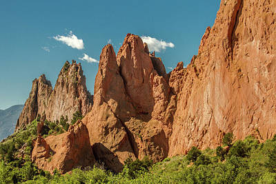 Art Print featuring the photograph Garden Of The Gods by Bill Gallagher