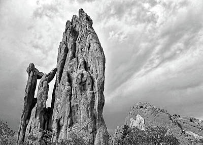 Photograph - Garden Of The Gods Black And White - Photography by Ann Powell