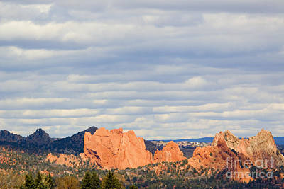 Photograph - Garden Of The Gods Clouds Colorado Springs by Steve Krull