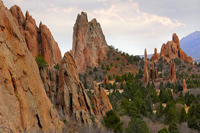 Garden Of The Gods - Colorado  Art Print by Mike McGlothlen