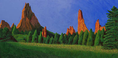 Painting - Garden Of The Gods, Colorado Springs by Garry McMichael