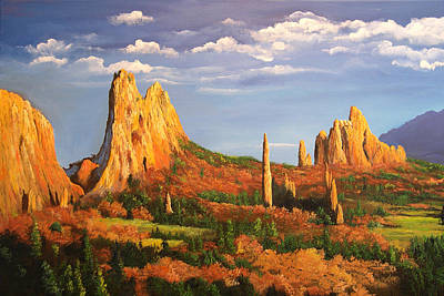Garden Of The Gods Art Print by Connie Tom