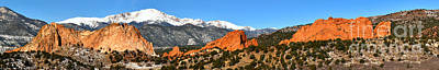 Art Print featuring the photograph Garden Of The Gods Extended Panorama by Adam Jewell
