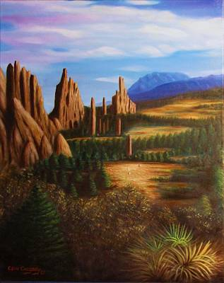 Painting - Garden Of The Gods.  by Gene Gregory