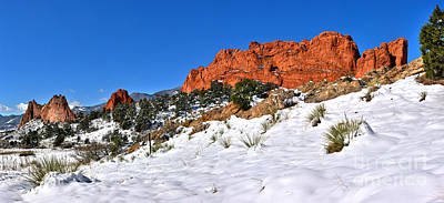 Photograph - Garden Of The Gods Red And White by Adam Jewell