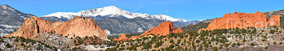 Art Print featuring the photograph Garden Of The Gods Red Rock Panorama by Adam Jewell