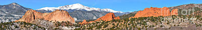 Art Print featuring the photograph Garden Of The Gods Spring Panorama by Adam Jewell
