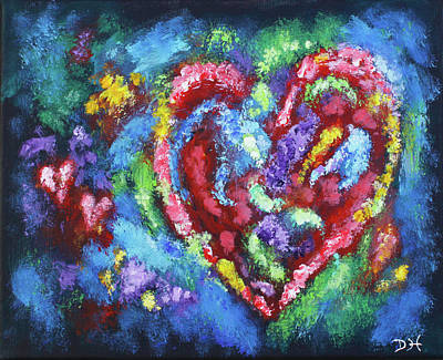 Painting - Garden Of The Heart by Diana Haronis