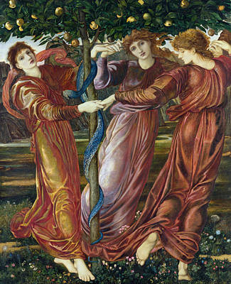 Burne-jones Painting - Garden Of The Hesperides by Sir Edward Burne Jones