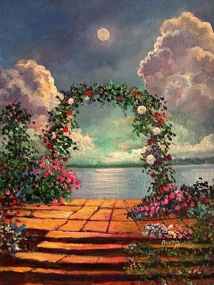 Painting - Garden Of The White Moon by Randy Burns