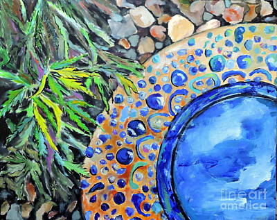 Painting - Garden Ornament by Jodie Marie Anne Richardson Traugott          aka jm-ART