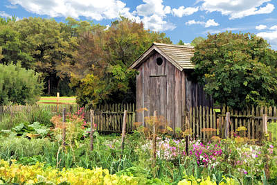 Outhouse Painting - Garden Outhouse At Old World Wisconsin by Christopher Arndt