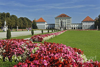 Garden Outside Of German Castle Art Print