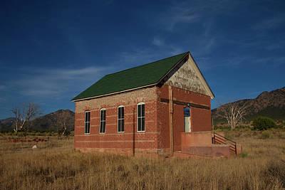 Brick Schools Photograph - Garden Park School, Fremont County, Colorado by Bridget Calip