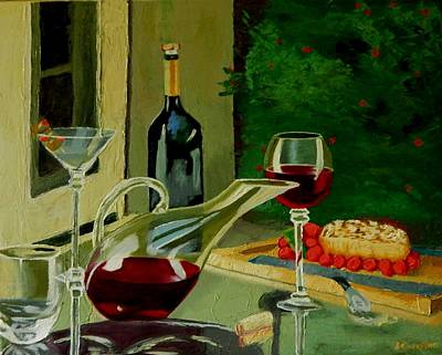 Garden Party Original by Betty Compton